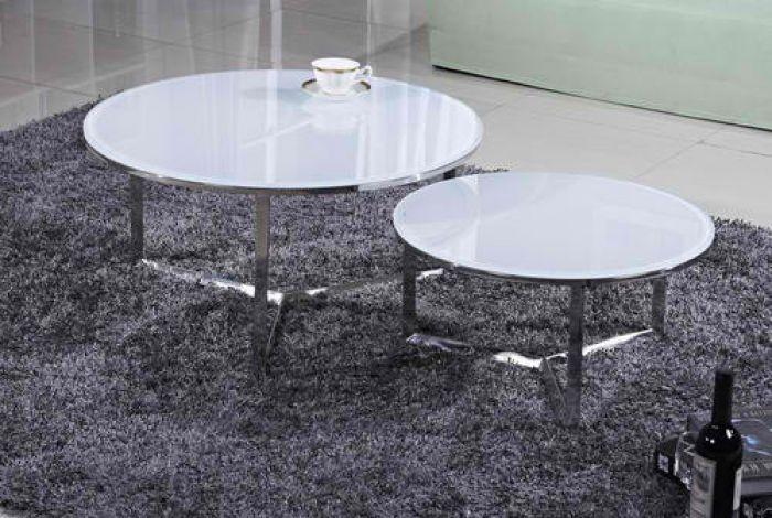 מגניב שולחנות סלון sleepnet 1593. סט שולחן סלון עגול מזכוכית דגם 1593 ZH-41